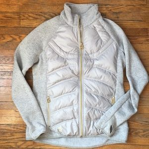 Michael Kors quilted sweater zip up